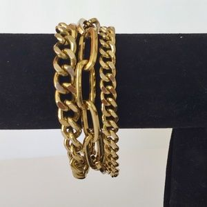 Jewelry - Chunky three chain cluster braclet.